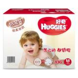 好奇(Huggies) �K金�b 倍柔�H�w ��杭�尿� M136片 一包